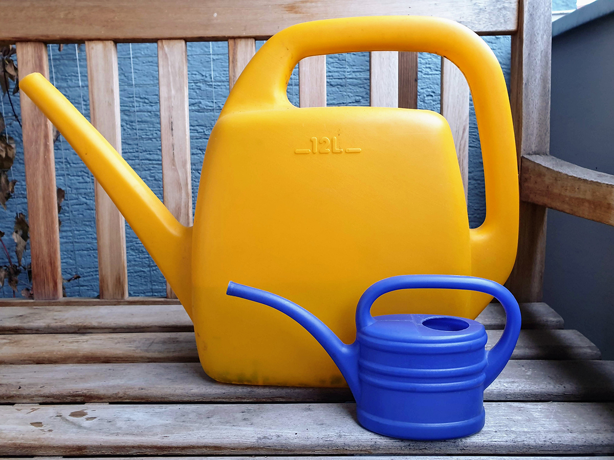 12 liter and half liter watering can