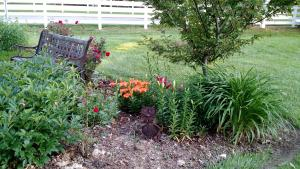 Expanded garden bed in Ohio